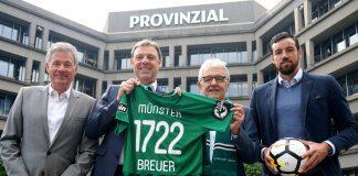 Foto: SC Preußen Münster: Fototermin - Provinzial Westermann, Breuer, Strässer, Metzelder