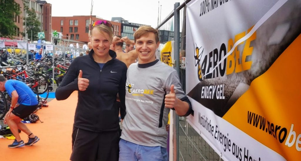 Paul Weigel (Aerobee) und Triathletin Franziska Wiedebusch