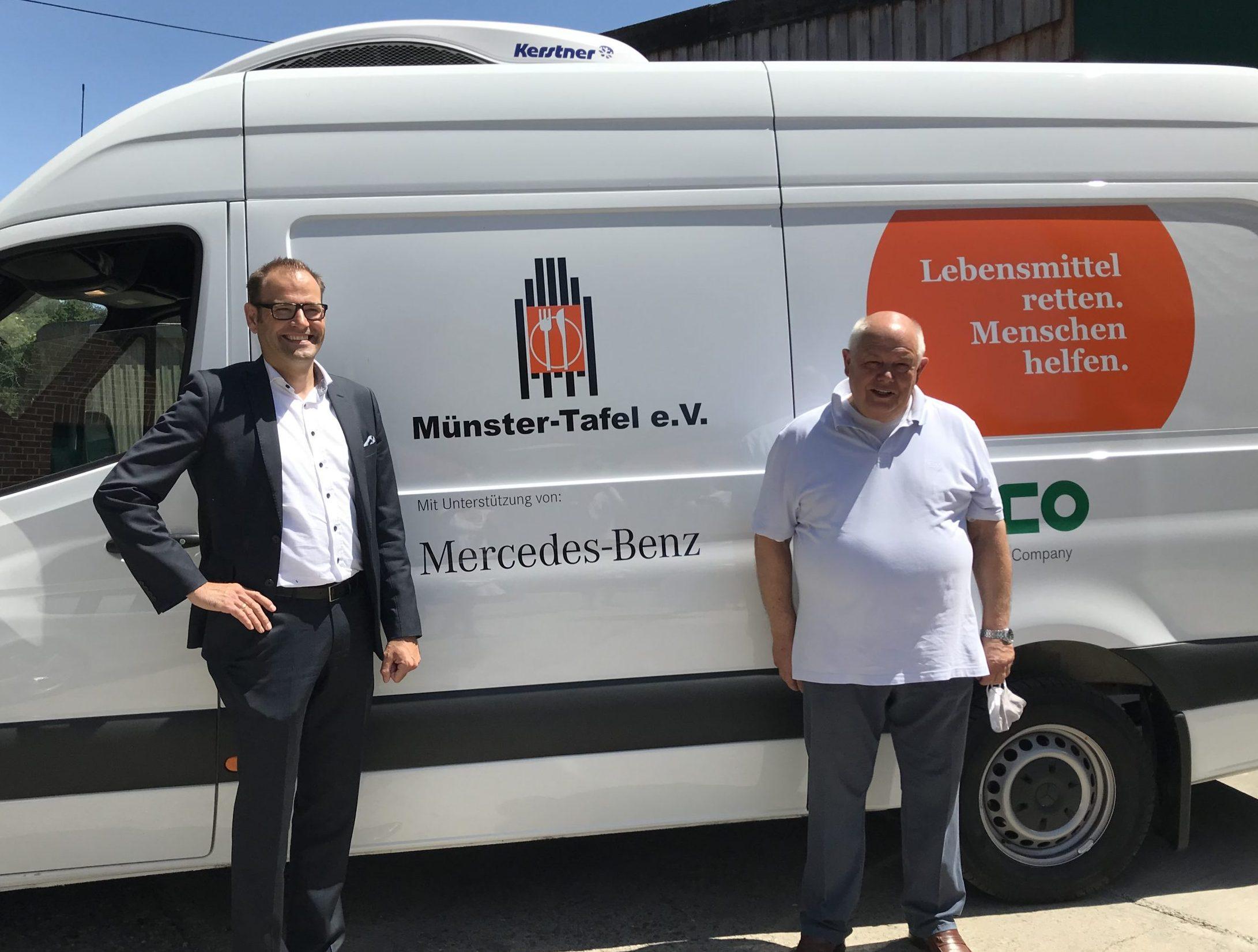 Spendenübergabe Münster Tafel e.V.